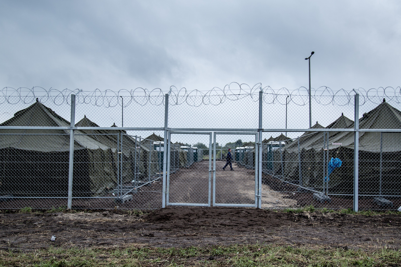 Registration Camp at Roszke, Hungary.