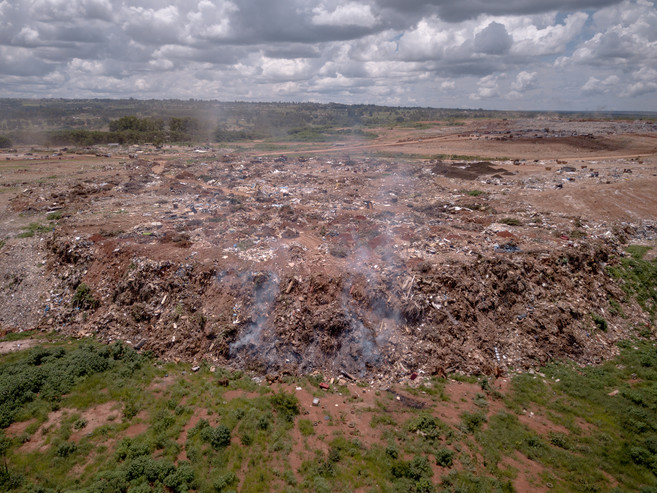 Overview of the Estrutural Dump, Brasilia, Brazil, the largest in Latin America. . The dump holds around 40 million tons of trash accumulated over the years in the 500-acre area. Some 2,000 tons of waste are dumped there every day.The largest waste dump in Latin America is shutting down in Brasilia for sanitary reasons, upending the livelihood of thousands of garbage recyclers.