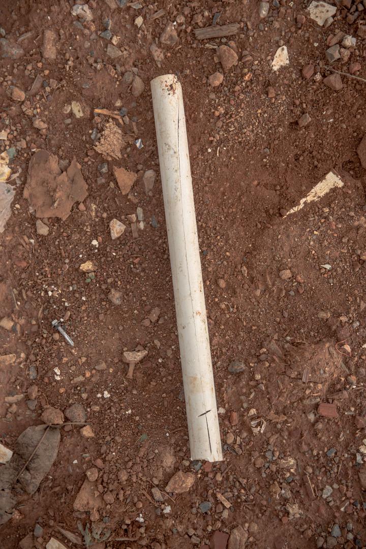 PVC pipe are sold around 9 cents of a dollar per kilo at the Estrutural dump in Brasilia.