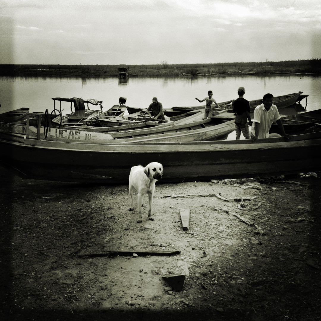 Fishermen prepares their boats to return to their fishing activities, after a long period of drought. In January 2016 the rain came again. A heavy rain fell in a short period of time, another sign of the uncommon behavior of the climate, during the last years, in the region.