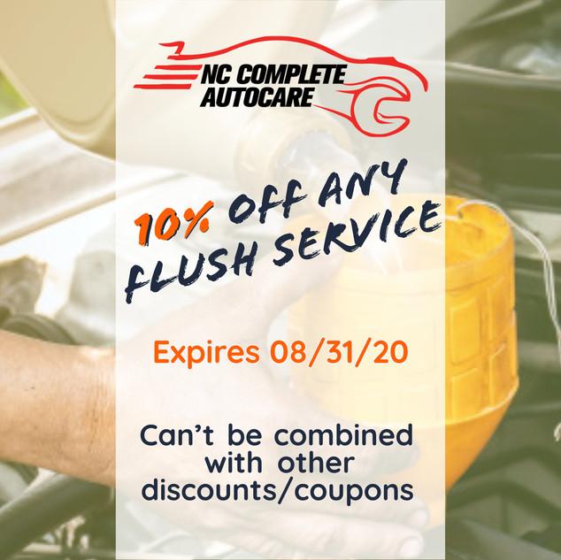 10% off any flush service
