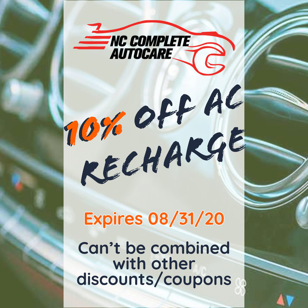 10% off AC recharge