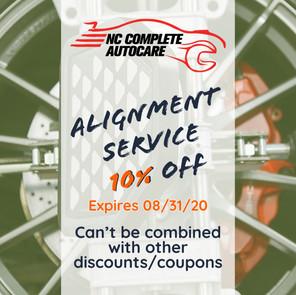 Alignment service 10% off