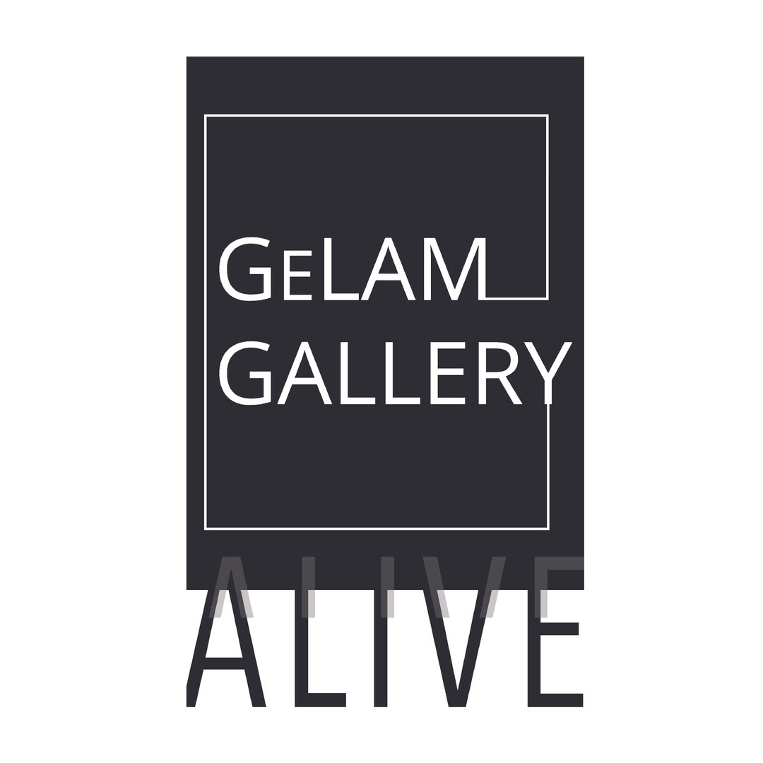 Logo for Gelam Gallery Alive, a gathering of all kinds of artists and a celebration of art, from engaging musical performances and live portrait drawings, to passionate creatives selling their work.