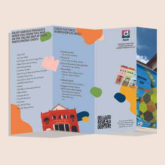 KJC Art Circuit, to guide visitors around this trail, and list out available workshops and discounts.