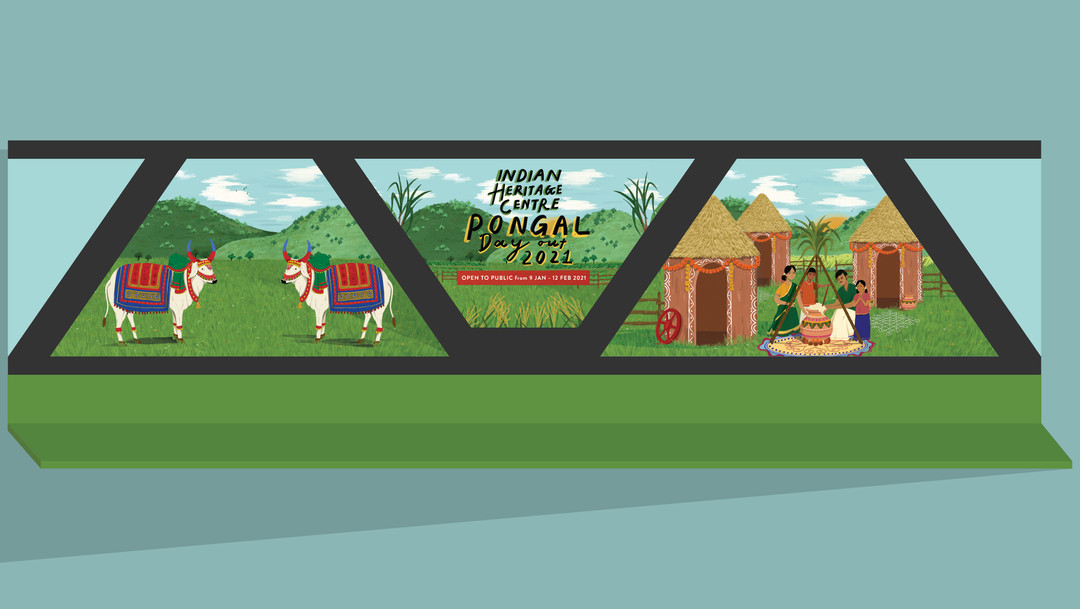 Facade Backdrop for Pongal Day Out 2021 where it allows an immersive experience to the environment.