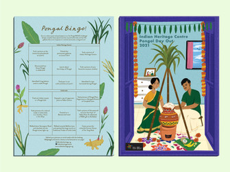 Bingo Sheet to engage visitors in a fun activity for Pongal Day out 2021.