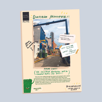 Dustbin makeover, an open call for artists' participation to paint the dustbins along a backstreet.