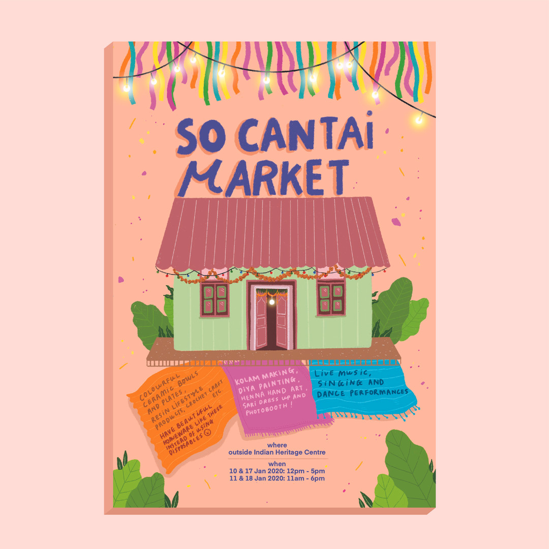 So Cantai Market flyer, to bring the visitors of Little India to the market space.