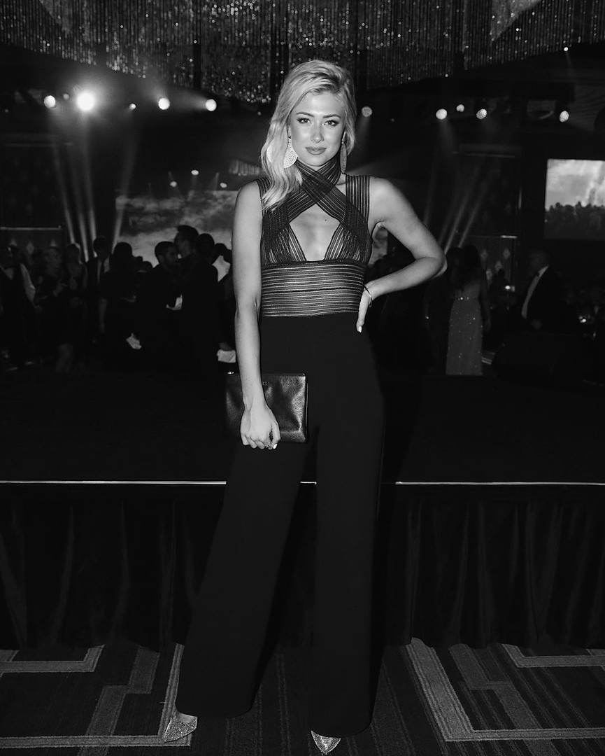 Model Tess Shanahan in the Leo jumpsuit AMF Gala 2017