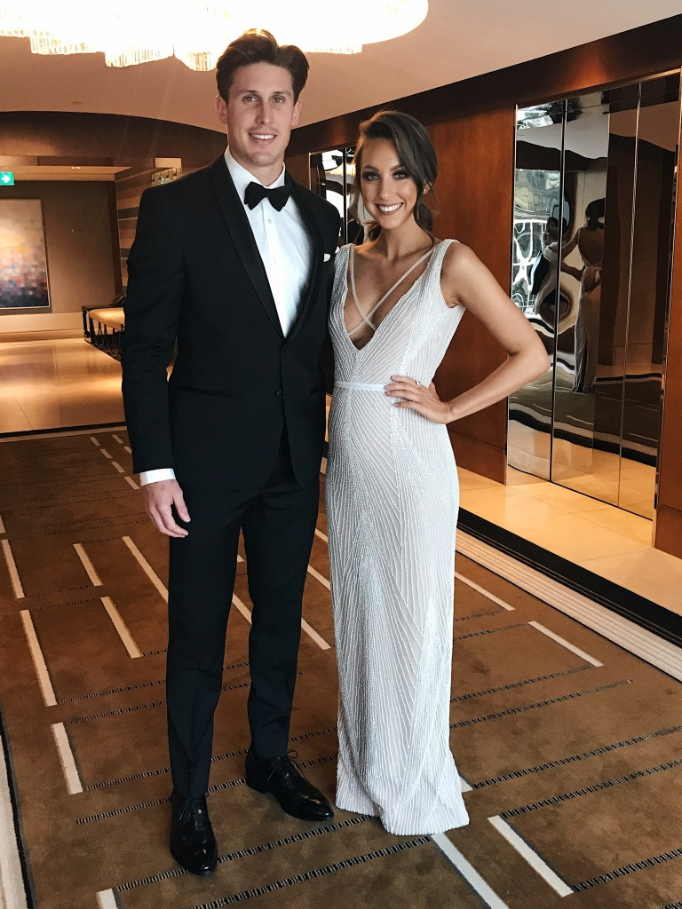 Georgia Homer in the Gemini gown Brownlow's 2017