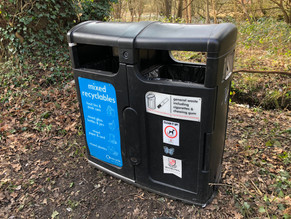 New Bins For Mayford's Rubbish Hotspot.