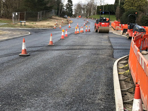 Road works on Egley road are due to be completed by the 6th April