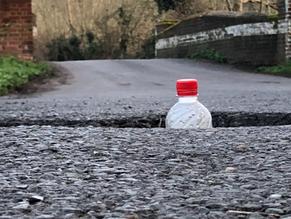 Dangerous Pothole On Smarts Heath Lane. Please Be Careful!