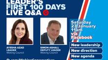 LIVE Q & A WITH HEATHLAND CLL'S (AYESHA AZAD) LEADER AND (SIMON ASHALL) DEPUTY LEADER OF WBC