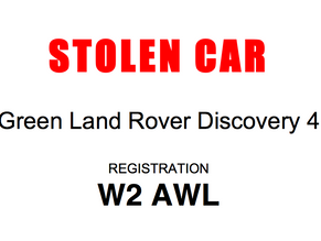 Green Land Rover Stolen from Egley Road!