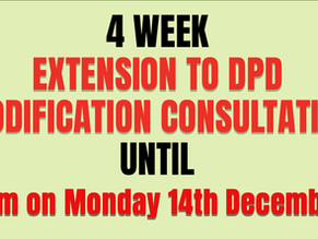 EXTENDED DEADLINE TO RESPOND TO THE SITE ALLOCATIOS DPD MAIN MODIFICATIONS CONSULTATION -