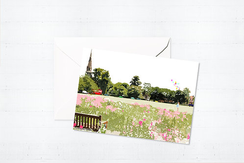 Njeri Illustrated Greeting Turnham Green West London City Scene Art Illustration