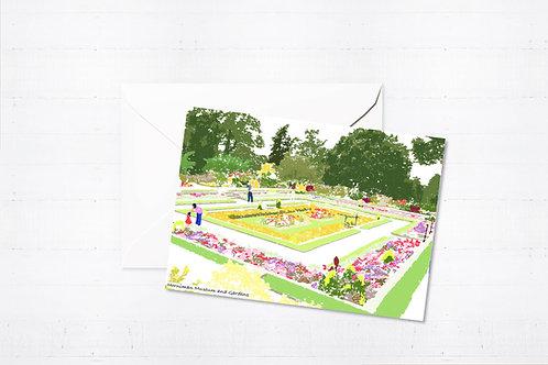 Njeri Illustrated Greeting Card Horniman Museum and Gardens London City Scene Art Illustration