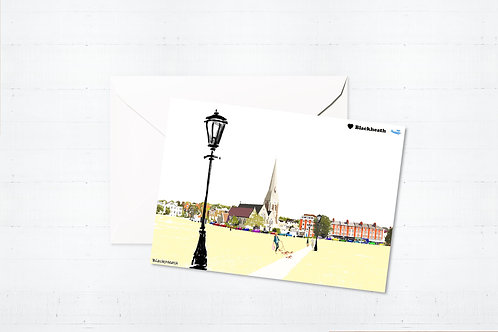 Njeri Illustrated Greeting Card Blackheath South London City Scene Art Illustration