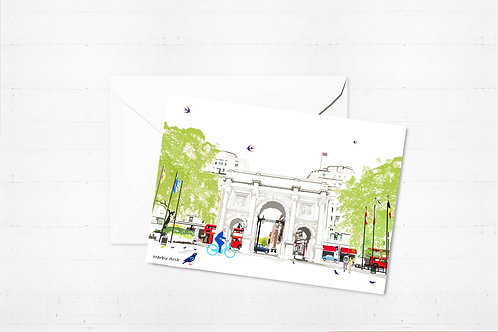 Njeri Illustrated Greeting Card Marble Arch London City Scene Art Illustration