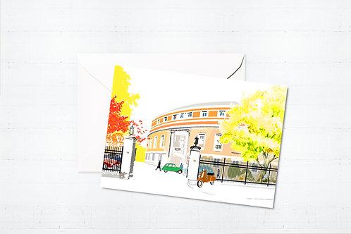 Njeri Illustrated Greeting Card Stoke Newington Town Hall Hackney London City Scene Art Illustration
