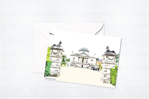 Njeri Illustrated Greeting Card Chiswick House West London City Scene Art Illustration