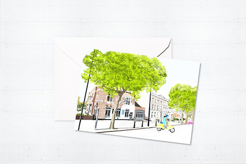 Njeri Illustrated Greeting Card Ladbroke Grove West London City Scene Art Illustration