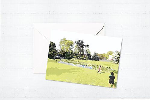 Njeri Illustrated Greeting Card Walpole Park London City Scene Art Illustration