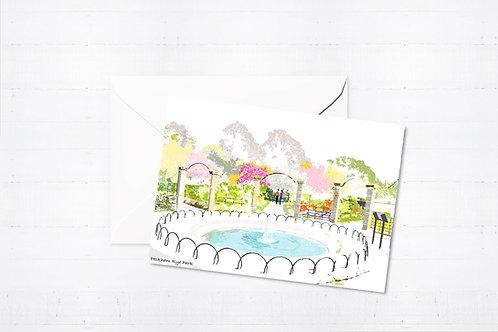 Njeri Illustrated Greeting Card Peckham Rye Park London City Scene Art Illustration