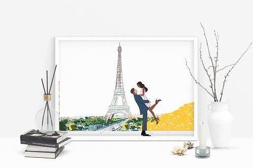 Love in Paris Valentine's Day Card Box  | Couples Card | Multiple Skin Color Opt