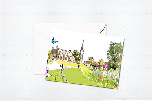Njeri Illustrated Greeting Card Clissold Park Stoke Newington Hackney London City Scene Art Illustration