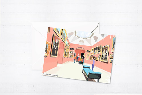 Njeri Illustrated Greeting Card Dulwich Picture Gallery London City Scene Art Illustration