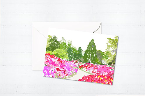 Njeri Illustrated Greeting Card Isabella Plantation London Barnes Richmond Scene Art Illustration