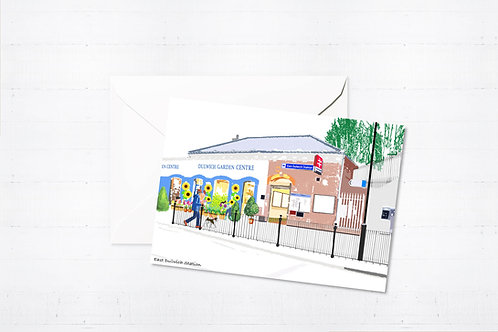 Njeri Illustrated Greeting Card Dulwich Station London City Scene Art Illustration