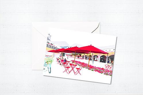 Njeri Illustrated Greeting Card Coal Drops Yard London City Scene Art Illustration