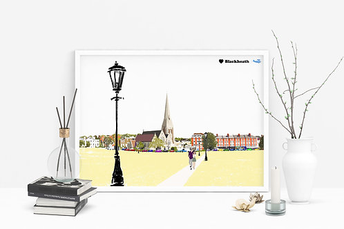 Art Prints, Personalized Art Print, Handmade, Unique Gifts, London City Art, Blackheath Art, Birthday Gift, Thinking of You