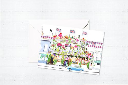 Njeri Illustrated Greeting Card Churchill Arms London City Scene Art Illustration