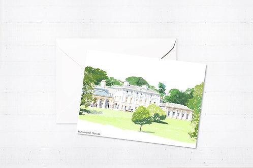 Njeri Illustrated Greeting Card Kenwood House London City Scene Art Illustration