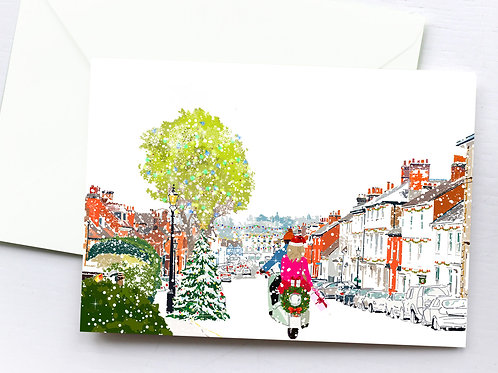 Christmas Cards, Handmade, Greeting Card, Farnham Art, Holiday Cards, Thinking of You, Just Because, Christmas Card Box, Gift