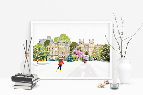 Christmas Art Prints, Handmade, Wall Art, Windsor Art, Holiday Print, Thinking of You, Personalized Gift, Christmas Gift