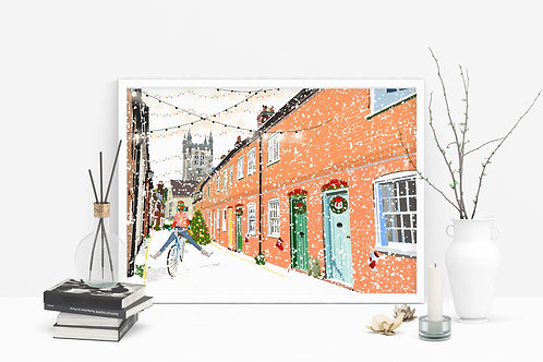 Christmas Art Prints, Handmade, Wall Art, Farnham Art, Holiday Print, Thinking of You, Personalized Gift, Christmas Gift