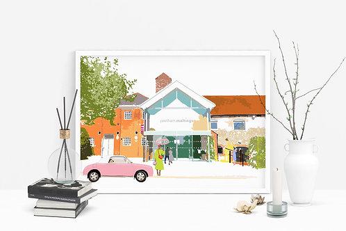 Art Prints, Personalized Art Print, Handmade, Unique Gifts, Farnham Art, Farnham Maltings Art, Home Decor
