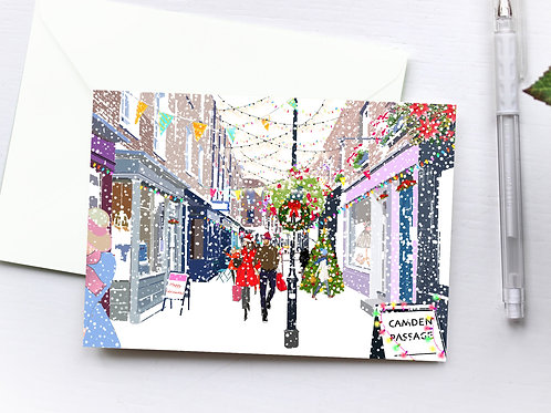 Christmas Cards, Handmade, Greeting Card, London Art, Holiday Cards, Thinking of You, Just Because, Christmas Card Box, Gift