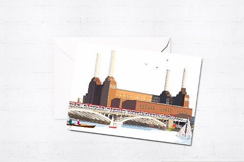 London Art, Greeting Cards, Box Set, Just Because, Thinking of You, Birthday Cards, Battersea, Blank Cards, London Cards