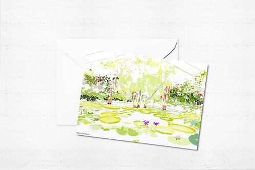 Njeri Illustrated Greeting Card Kew Gardens London City Scene Art Illustration
