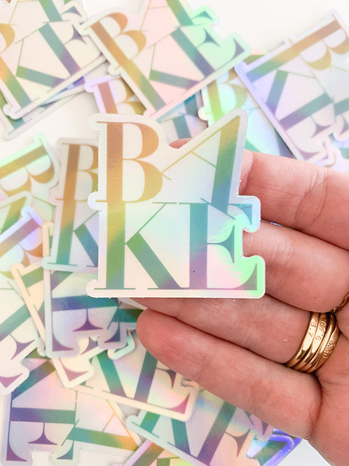 Holographic BAKE stickers