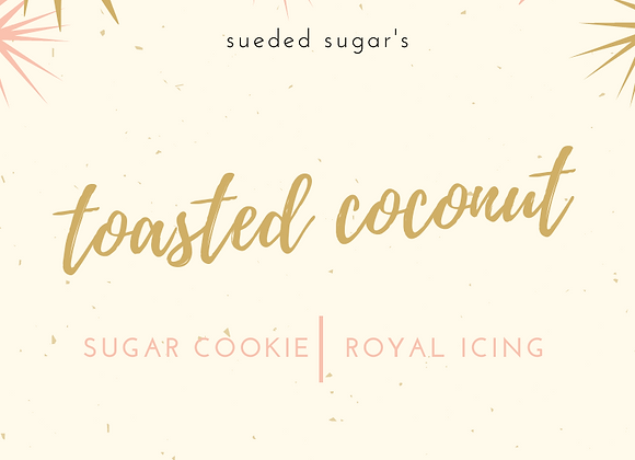 Toasted Coconut Sugar Cookie & Icing
