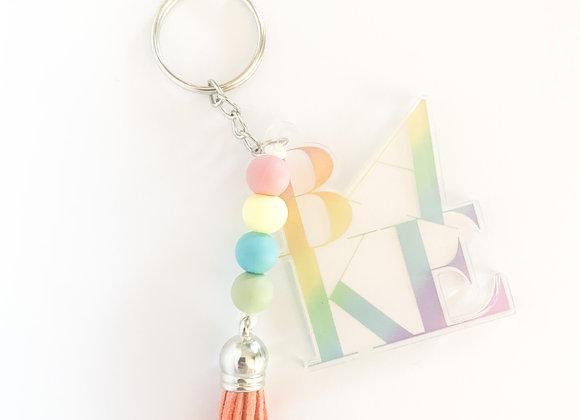 Rainbow BAKE keychain