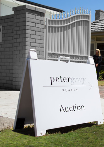 Peter Gray Realty A-Frame Board